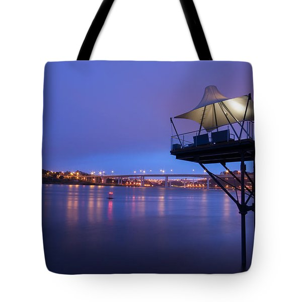 Porto @ Night With A Touch Of Long Exposure Tote Bag