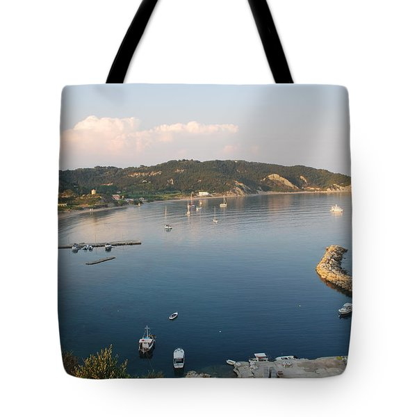 Tote Bag featuring the photograph Porto Bay by George Katechis