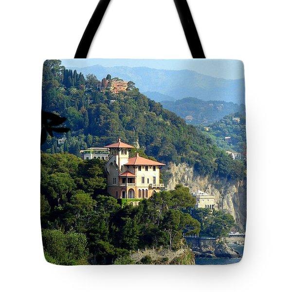 Portofino Coastline Tote Bag