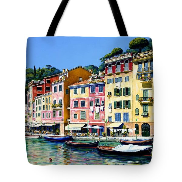 Portofino Sunshine Sold Tote Bag by Michael Swanson