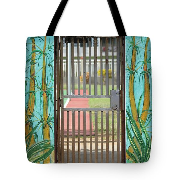 Porton Cerrado Tote Bag by The Art of Alice Terrill