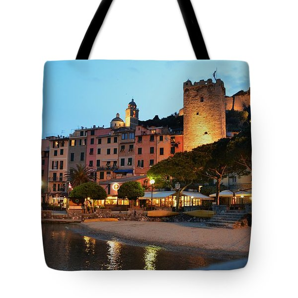 Portovenere At Night Tote Bag by Dany Lison