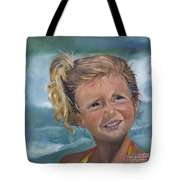 Portrait - Emma - Beach Tote Bag by Jan Dappen