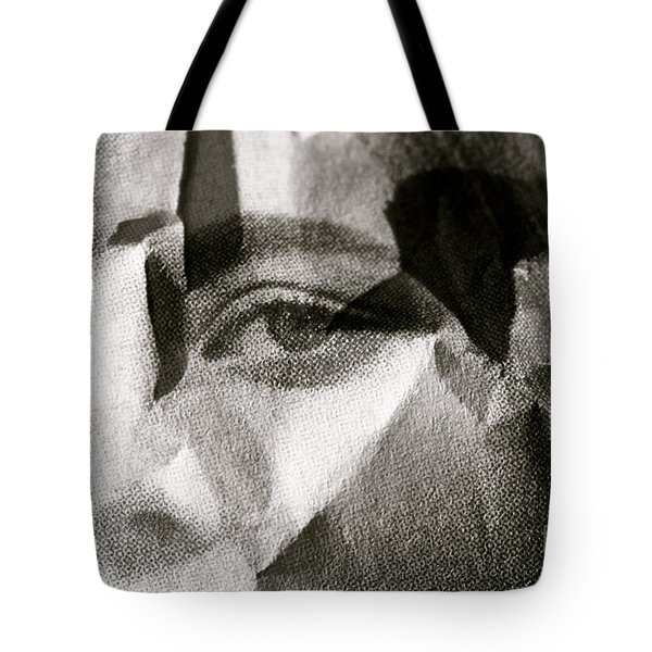 Portrait In Black And White Tote Bag