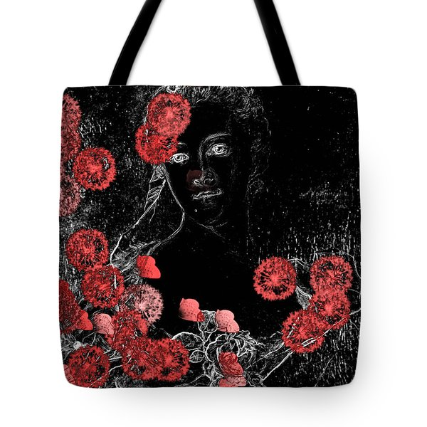 Portrait In Black - S0201b Tote Bag by Variance Collections