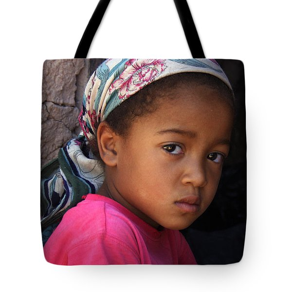 Portrait Of A Berber Girl Tote Bag by Ralph A  Ledergerber-Photography