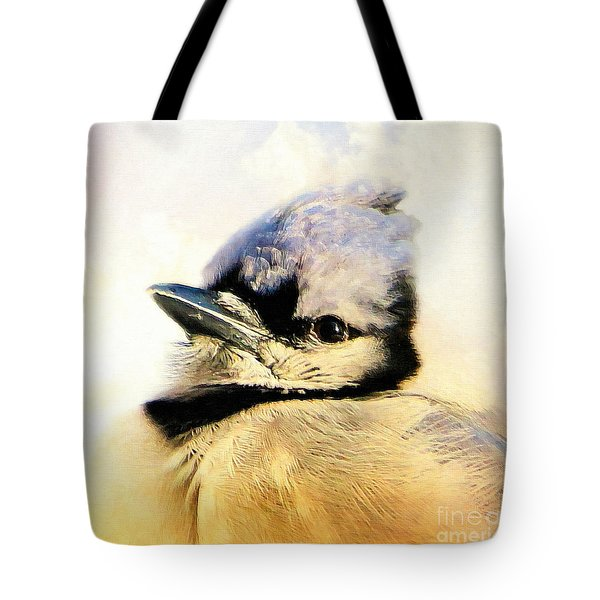 Portrait Of A Blue Jay Tote Bag