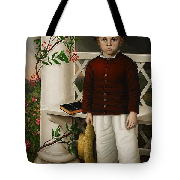 Portrait Of A Boy Tote Bag by James B Read
