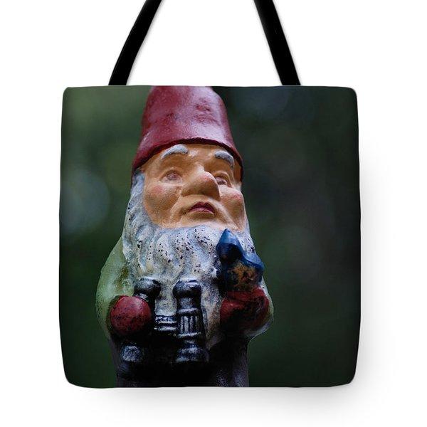 Portrait Of A Garden Gnome Tote Bag