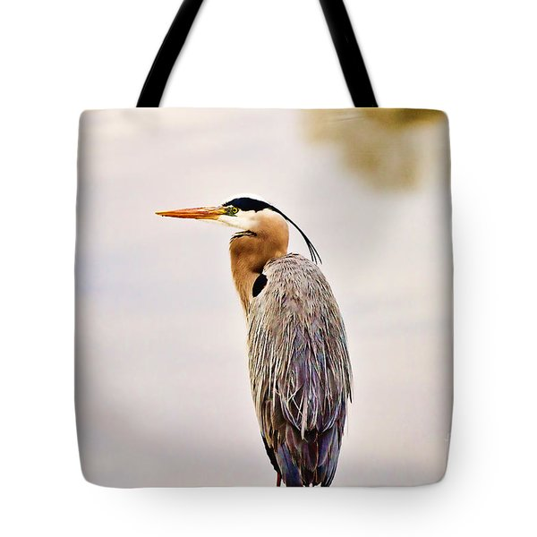 Portrait Of A Great Blue Heron Tote Bag by Scott Pellegrin