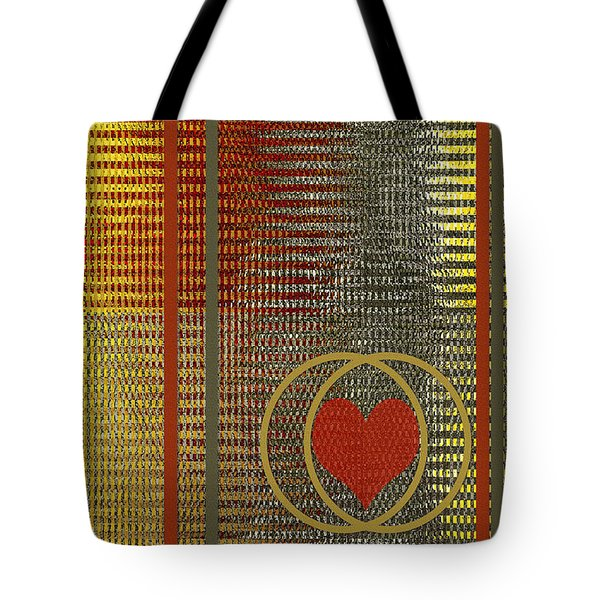 Portrait Of A Heart Tote Bag by Ben and Raisa Gertsberg