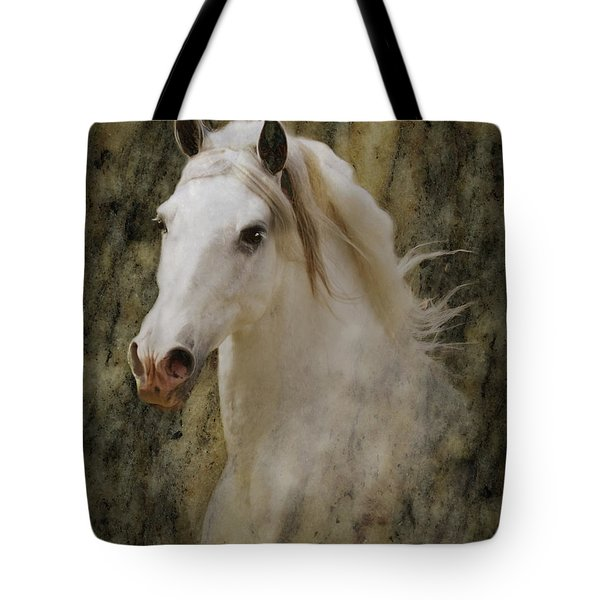 Portrait Of A Horse God Tote Bag