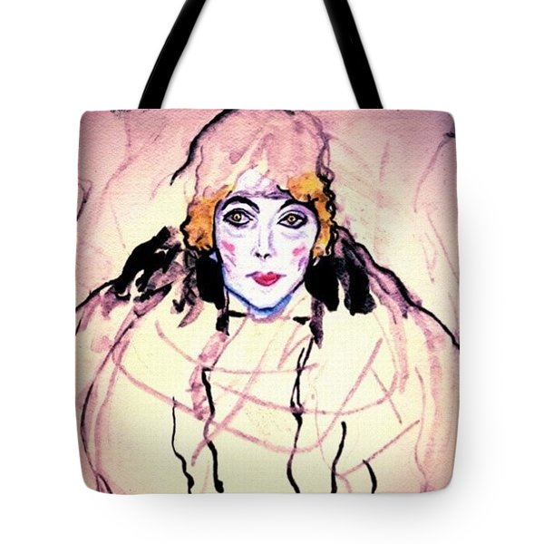 Portrait Of A Lady En Face After Gustav Klimt Tote Bag
