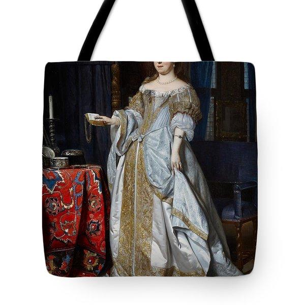 Portrait Of A Lady Tote Bag by Gabriel Metsu