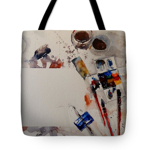 Tote Bag featuring the painting Portrait Of A Master by Sandra Strohschein