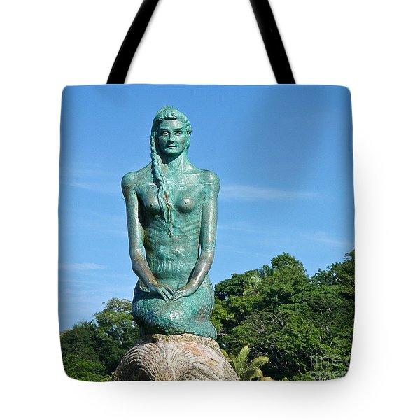 Portrait Of A Mermaid Tote Bag by Michelle Wiarda