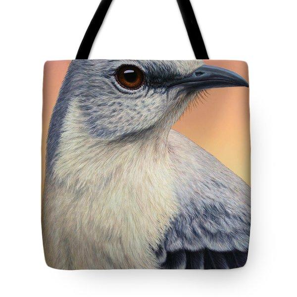 Portrait Of A Mockingbird Tote Bag
