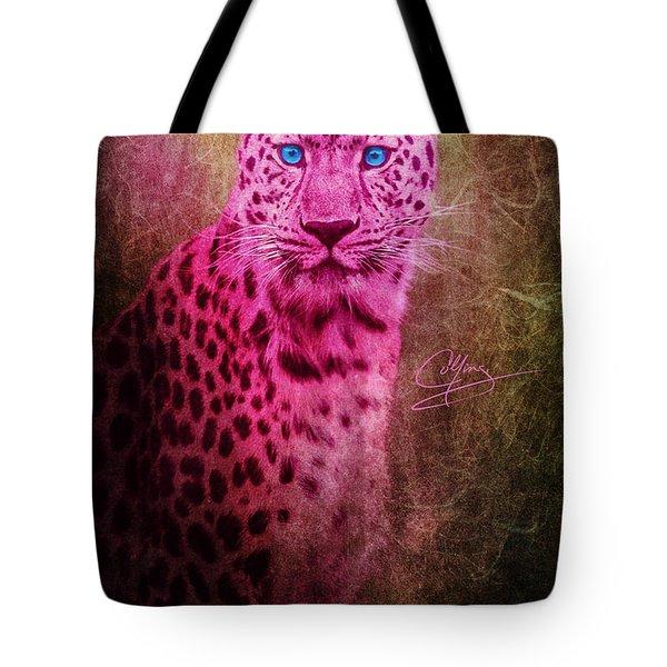 Portrait Of A Pink Leopard Tote Bag