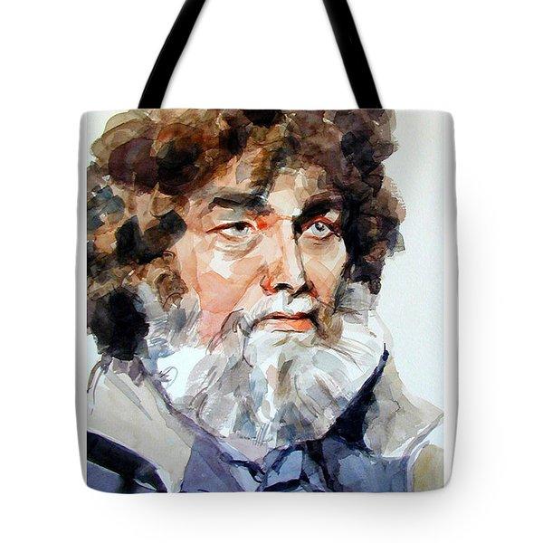 Watercolor Portrait Of A Sailor Tote Bag