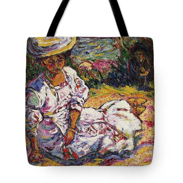 Portrait Of A Woman Tote Bag by Ernst Ludwig Kirchner