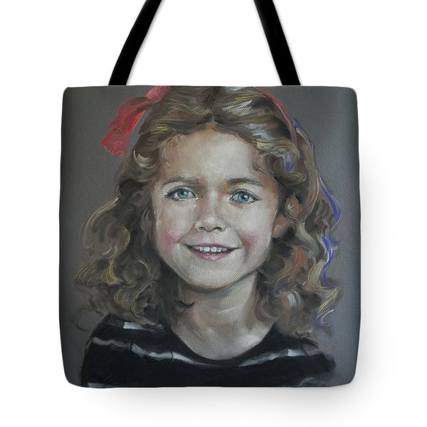 Portrait Of A Young Girl Tote Bag by Mary Machare