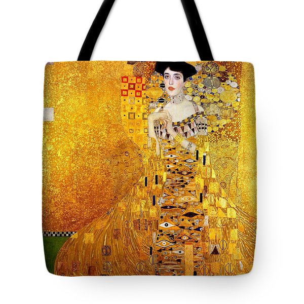 Tote Bag featuring the painting Portrait Of Adele Bloch-bauer by Gustav Klimt