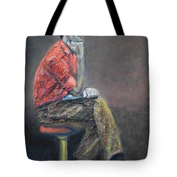 Portrait Of Ali Akrei - The Painter Tote Bag