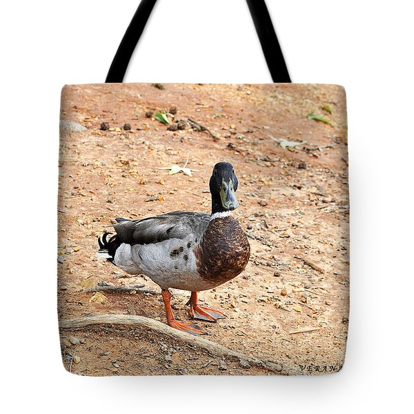 Tote Bag featuring the photograph Portrait Of An Alabama Duck 2 by Verana Stark
