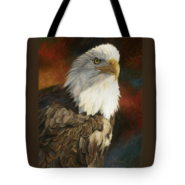 Portrait Of An Eagle Tote Bag by Lucie Bilodeau