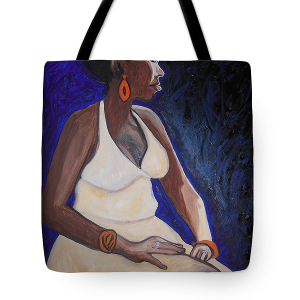 Portrait Of An Ethiopian Woman Tote Bag by Esther Newman-Cohen