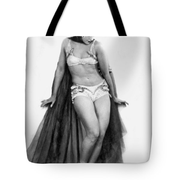 Portrait Of Exotic Dancer Tote Bag by Underwood Archives