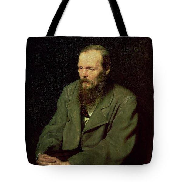 Portrait Of Fyodor Dostoyevsky Tote Bag