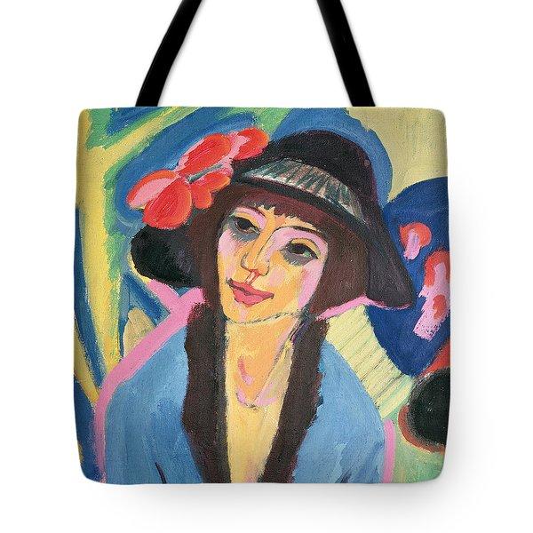 Portrait Of Gerda Tote Bag by Ernst Ludwig Kirchner