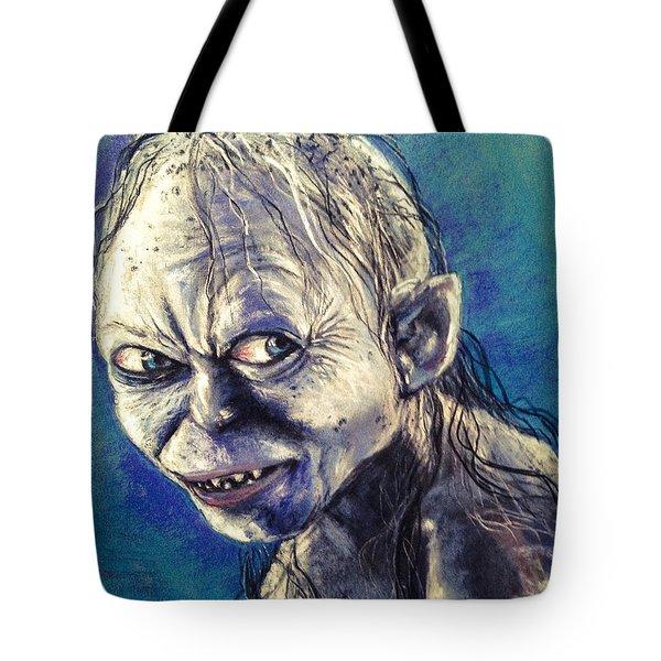 Portrait Of Gollum Tote Bag by Alban Dizdari