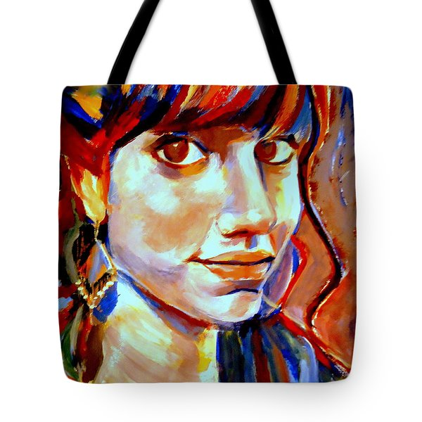 Portrait Of Ivana Tote Bag by Helena Wierzbicki