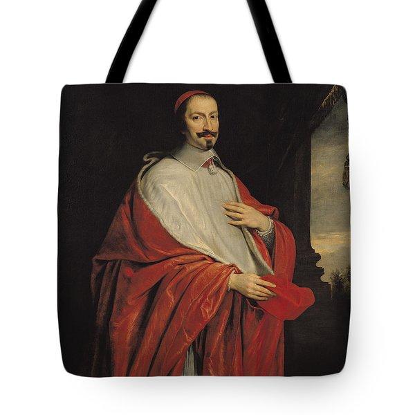 Portrait Of Jules Mazarin Tote Bag by Philippe de Champaigne