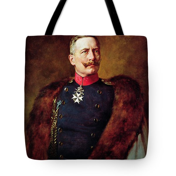 Portrait Of Kaiser Wilhelm II 1859-1941 Tote Bag