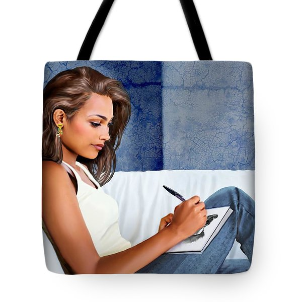 Portrait Of Lisa Tote Bag
