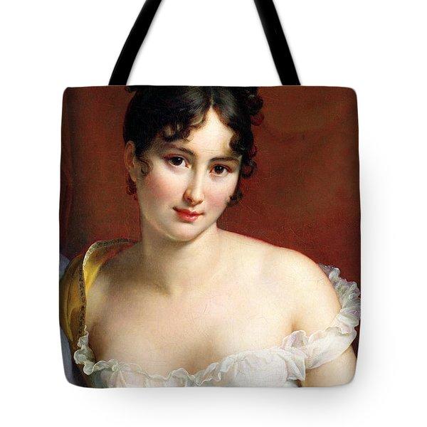 Portrait Of Madame Recamier  Tote Bag