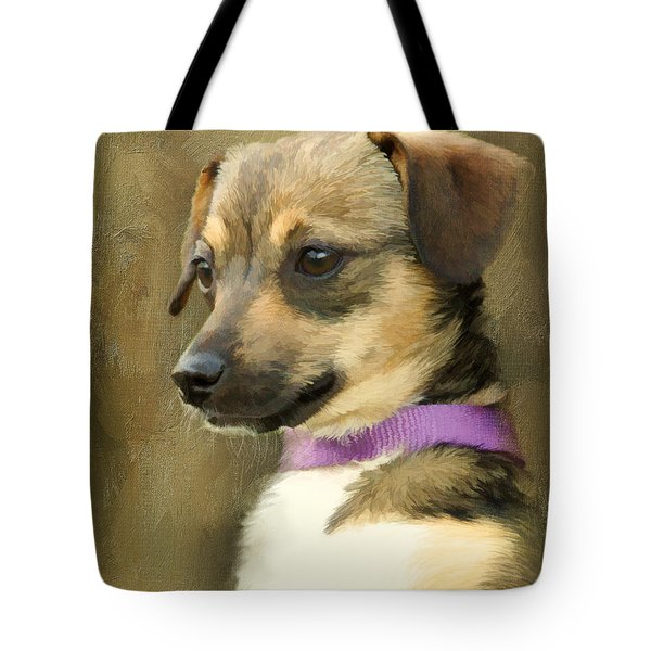 Portrait Of Maizie Tote Bag by Jayne Carney