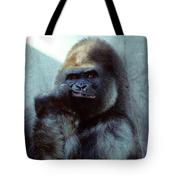 Portrait Of Male Gorilla Gorilla Gorilla Tote Bag