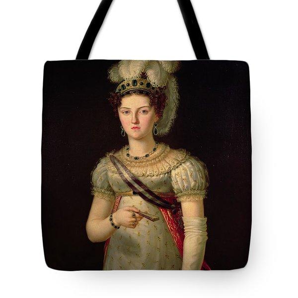 Portrait Of Maria Josephine Amalia Of Saxony Tote Bag