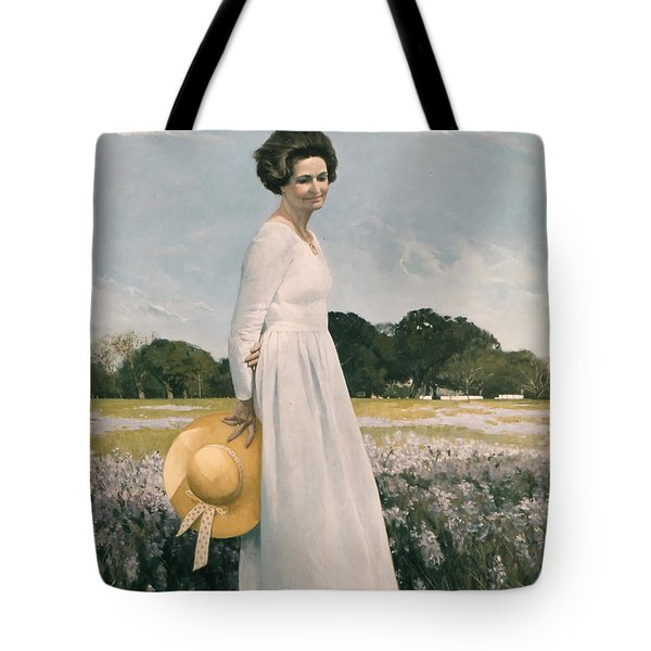 Portrait Of Mrs Lyndon B Johnson Tote Bag by Mountain Dreams