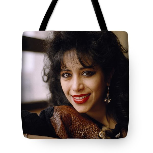 Portrait Of Ofra Haza Tote Bag