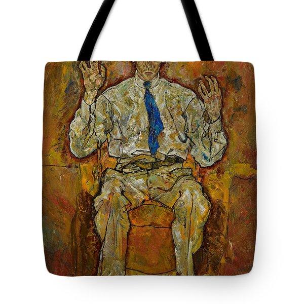 Portrait Of Paris Von Gutersloh Tote Bag by Egon Schiele