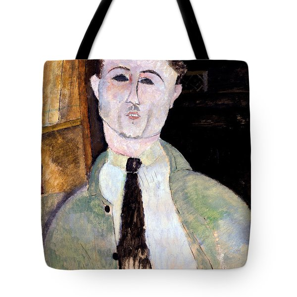 Portrait Of Paul Guillaume Tote Bag by Amedeo Modigliani