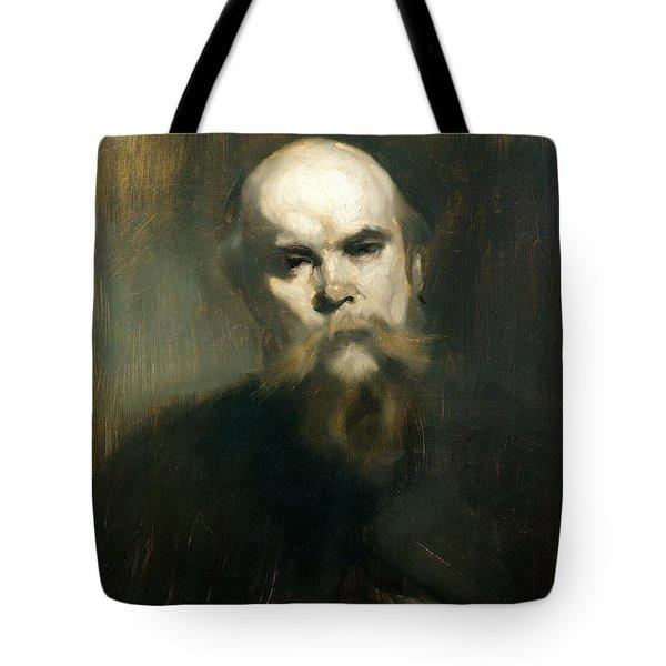 Portrait Of Paul Verlaine 1844-96 1890 Oil On Canvas Tote Bag