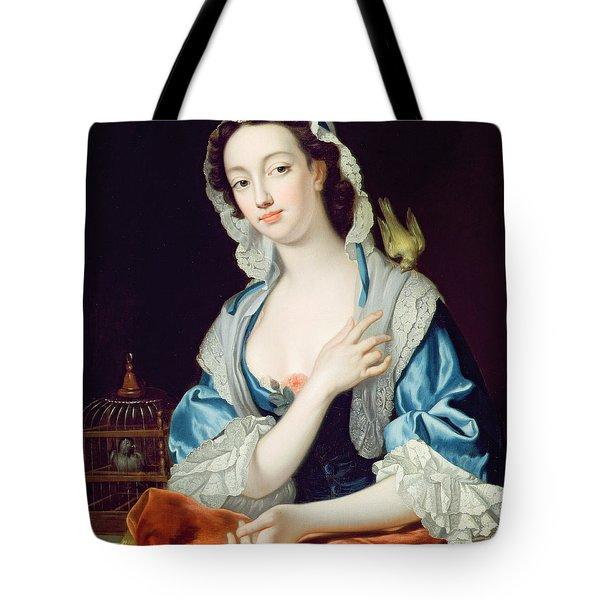 Portrait Of Peg Woffington Tote Bag by Jean-Baptiste van Loo