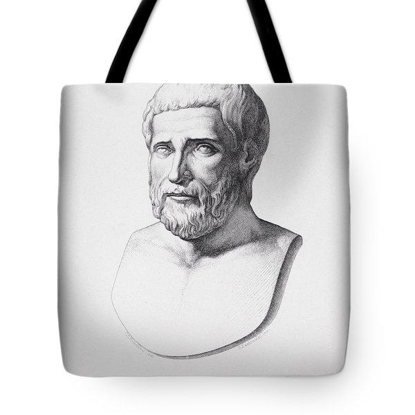 Portrait Of Pythagoras Tote Bag by CC Perkins
