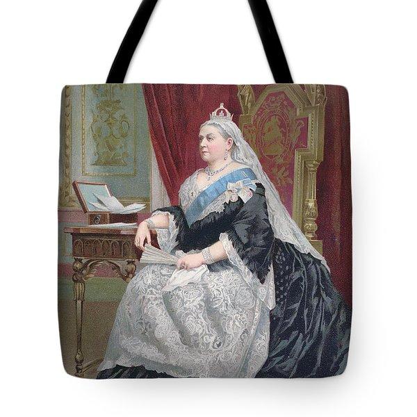Portrait Of Queen Victoria Tote Bag